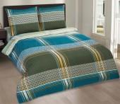 Постельное белье с простыней на резинке АртПостель АВЕНЮ поплин 2-спальное70х70 см