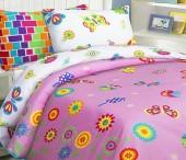 Детское постельное белье Mona Liza бязь 1,5-спальное 70х70+50х70 см БАБОЧКИ