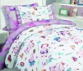 Детское постельное белье Mona Liza бязь 1,5-спальное 70х70+50х70 см БЕГЕМОТИКИ