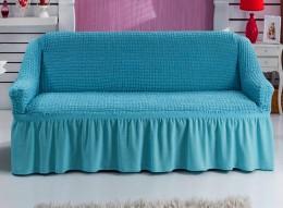 Чехол для дивана-мини 1,5 м Karbeltex бирюза
