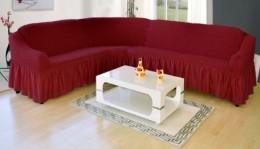 Чехлы для углового дивана + кресло (1 шт) Karbeltex бордо