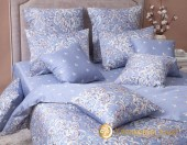 Постельное белье Хлопковый Край Роскошный ДАМАСК ПЛАТИНА-3 сатин 1,5-спальное 70х70 см