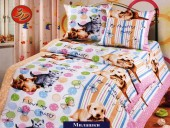Детское постельное белье Valtery бязь премиум 1,5-спальное 50х70 см арт. ДБ-41