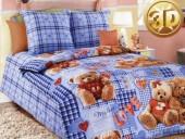 Детское постельное белье Valtery бязь 1,5-спальное 50х70 см арт. ДБ-42