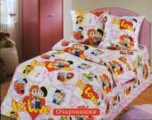 Детское постельное белье Valtery бязь 1,5-спальное 50х70 см арт. ДБ-48