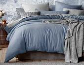 Постельное белье Mona Liza Actual сатин однотонный 1,5-спальный 50х70 см арт.5202/56 Деним (деним-сер)