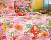 Детское постельное белье ТексДизайн Бамбино ДОБРЫЕ ФЕИ бязь 1,5-спальное 70х70 см
