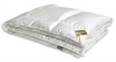 Одеяло Dargez ЭДЕМ гусиный пух Экстра белый, шелк-хлопок сверхлегкое евро 200х220 см