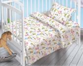Детское постельное белье Valtery поплин бэби 40х60 см ЕДИНОРОГИ