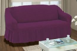 """Чехол для дивана 3-х мест. Karna """"Bulsan"""" фиолет."""
