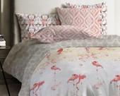 Постельное белье Mona Liza Japanese ранфорс дуэт 70х70 арт.Flamingo