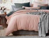 Постельное белье Mona Liza Actual сатин однотонный 1,5-спальный 50х70 см арт.5202/54 Фламинго (терракот-шторм)