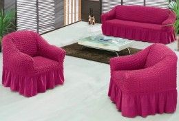Чехол для углового дивана DO&CO фуксия