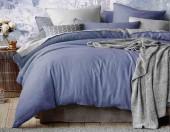Постельное белье Mona Liza Actual сатин однотонный 1,5-спальный 50х70 см арт.5202/51 Гавань (син-серый)