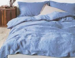 КПБ Mona Liza Capriccio полисатин жатый 1,5-сп. 70х70 арт.Blue