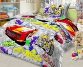 Детское постельное белье Svit бязь ГОСТ 1,5-спальное 70х70 см ГРАФФИТИ