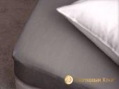 Простыня на резинке Хлопковый край махровая 140х200х25 см Графит