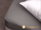 Простыня на резинке Хлопковый край махровая 90х200х25 см Графит