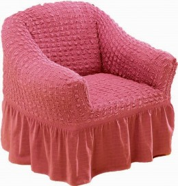 """Чехол для кресла Karna """"Bulsan"""" грязно-роз."""