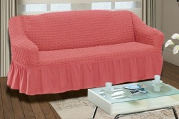 """Чехол для дивана 3-х мест. Karna """"Bulsan"""" грязно-роз."""