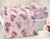 Детское постельное белье Valtery поплин бэби 40х60 см ХРЮШКИ