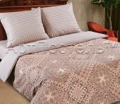 Постельное белье с простыней на резинке АртПостель ИТАЛИЯ поплин 1,5-спальное 70х70 см