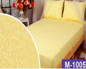 Простыня на резинке Мерцана махровая 160х200х20 см Желтый