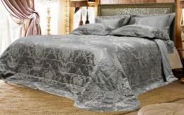 Покрывало Софи де Марко КАТЕРИНА (серебро) 240х260 см + 2 наволочки 50х70 см