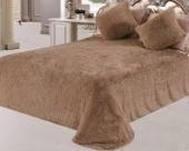 Плед Svit искусственный мех Травка Люкс КОФЕ 220х240 см. 2,7 кг