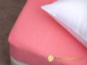 Простыня на резинке Хлопковый край махровая 200х250х20 см Коралл