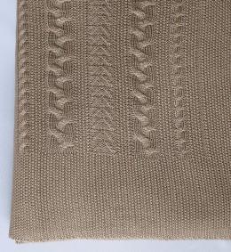 Плед Valtery вязанный  КОСА свиток (50% шерсть, 50% акрил) 150х200 см