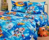 Детское постельное белье Svit бязь люкс 1,5-спальное 70х70 см КОСМИКИ