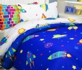 Детское постельное белье Mona Liza бязь 1,5-спальное 70х70+50х70 см КОСМОС