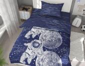 Детское постельное белье Svitweet НА РЕЗИНКЕ бязь ГОСТ 1,5-спальное 50х70 см арт.189 Космос