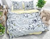 Постельное белье Svit New Line бязь ГОСТ 1,5-спальное 70х70 см арт.Веселые совы