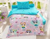 Детское постельное белье Svitweet НА РЕЗИНКЕ бязь ГОСТ 1,5-спальное 50х70 см арт.50 Лолы