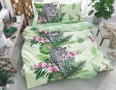 Постельное белье Svit бязь ГОСТ 1,5-спальное 70х70 см арт.Леопард зеленый