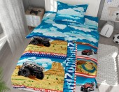 Детское постельное белье Svitweet НА РЕЗИНКЕ бязь ГОСТ 1,5-спальное 50х70 см арт.63 Аризона
