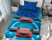 Детское постельное белье Svitweet НА РЕЗИНКЕ бязь ГОСТ 1,5-спальное 50х70 см арт.70 Тачки