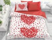 Постельное белье Svit бязь ГОСТ 1,5-спальное 70х70 см арт.Сердца красный