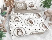 Постельное белье Svit New Line бязь ГОСТ 1,5-спальное 70х70 см арт.Мудрые совы коричневый
