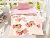 Детское постельное белье Svitweet НА РЕЗИНКЕ бязь ГОСТ 1,5-спальное 50х70 см арт.97 Мармеладные мишки