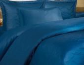 Постельное белье Mona Liza Royal ЛЕНТЫ ИНДИГО-14 жаккард 2-спальный 4 наволочки