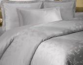 Постельное белье Mona Liza Royal ЛИСТЬЯ СИЛЬВЕР-17 жаккард 2-спальный 4 наволочки