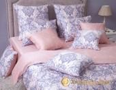 Постельное белье Хлопковый Край Роскошный МАРСЕЛЬ ЖЕМЧУГ-3 сатин 1,5-спальное 70х70 см