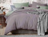 Постельное белье Mona Liza Actual сатин однотонный 1,5-спальный 50х70 см арт.5202/55 Миндаль (бузина-фисташка)