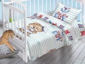 Детское постельное белье Valtery поплин бэби 40х60 см МИШКА-МОРЯЧОК