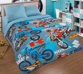 Детское постельное белье АртПостель МОТОКРОСС поплин 1,5-спальное 70х70 см