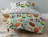 Детское постельное белье Mona Liza бязь 1,5-спальное 50х70 см МЯЧИ