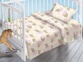Детское постельное белье Valtery поплин бэби 40х60 см ОБЛАЧНЫЕ МИШКИ